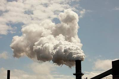 Emissions From The Bluescope Steel Works Art Print