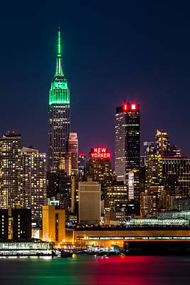 Empire State Building On Saint Patrick's Day Art Print