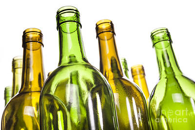 Empty Glass Wine Bottles Art Print by Colin and Linda McKie