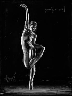 Toes Digital Art - En Pointe by H James Hoff