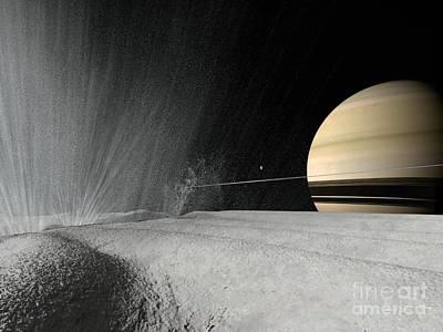 Enceladus, Artwork Art Print by Walter Myers