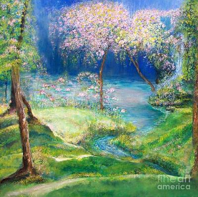 Meadow Willows Painting - Enchanted Forest  by Shan Ungar