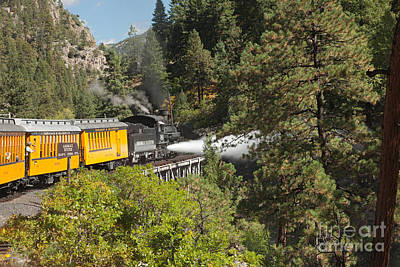 Photograph - Engine 481 Blow-down On The Durango And Silverton Narrow Gauge Railroad by Fred Stearns