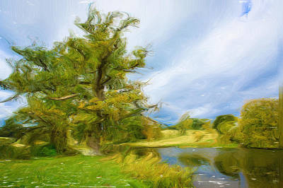 English Landscape Art Print by Tom Gowanlock