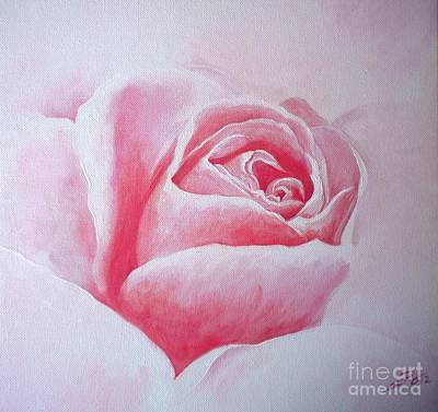 English Rose Art Print by Sandra Phryce-Jones