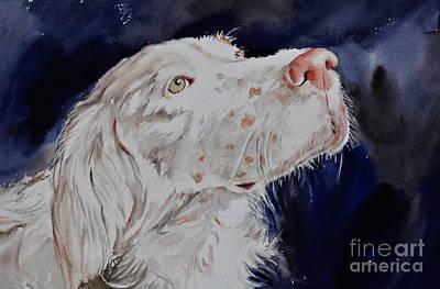 Painting - English Setter  by Kathy Flood