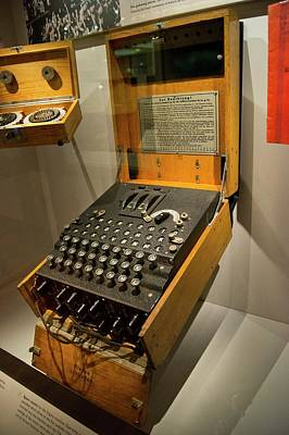 Enigma Photograph - Enigma Code Machine by Mark Williamson