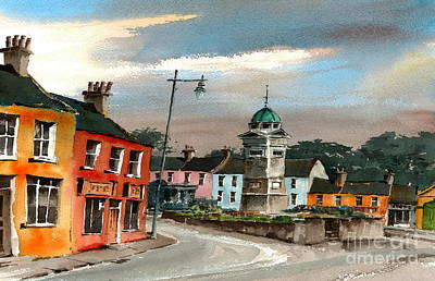 Painting - Enniskerry Village Wicklow by Val Byrne