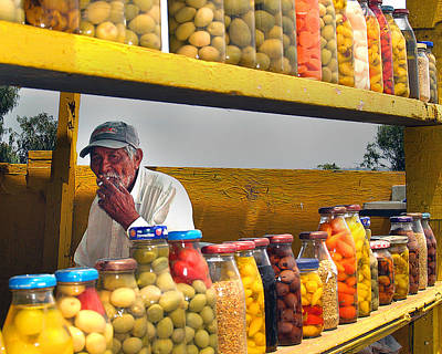 Photograph - Ensenada Olive Stand 04 by Jeff Brunton