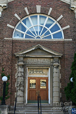 Photograph - Educational Entrance  by Susan Herber