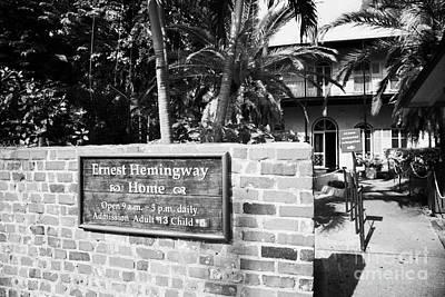 Hemingway House Wall Art - Photograph - Entrance To Ernest Hemingways House Key West Florida Usa by Joe Fox