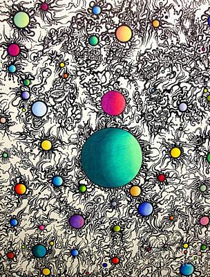 Drawing - Entropy Color Variation 6 by Devin  Cogger