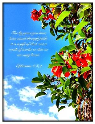 Photograph - Ephesians 2 8 by Scripture Pictures