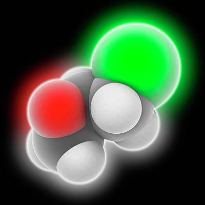 Component Photograph - Epichlorhydrin Molecule by Laguna Design