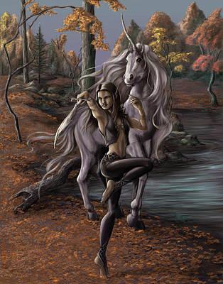 Elf Painting - Equinox by Rob Carlos