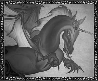 Digital Art - Equus Draco Unicornis by Robert Kernodle