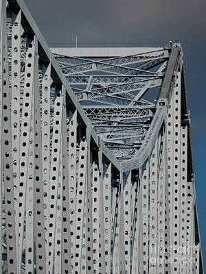 Photograph - New Orleans Crescent City Connection Erector Set Bridge by Michael Hoard