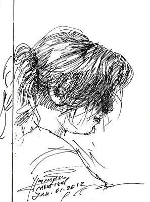 Pretty Girls Drawing - Eriola by Ylli Haruni