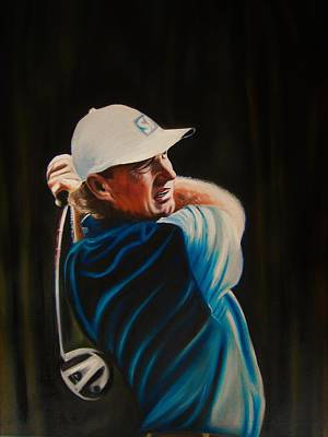 Ernie Els Wall Art - Painting - Ernie Els by Richard Garnham