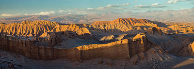 La Luna Photograph - Eroded Hills At Sunset In The Atacama by Panoramic Images
