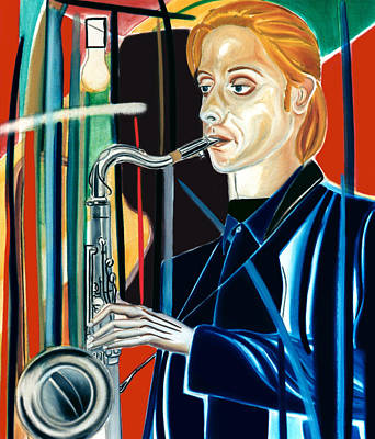 Saxophon Painting - Erwin Vann by Fabrice Plas