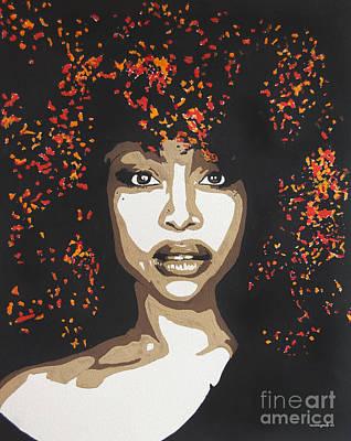 Painting - Erykah by Nancy Mergybrower
