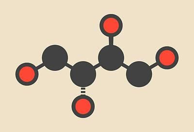 Erythritol Non-caloric Sweetener Molecule Art Print by Molekuul