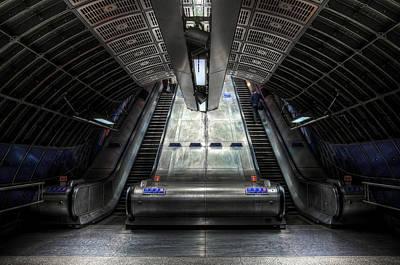 Railway Mixed Media - Escalator by Svetlana Sewell