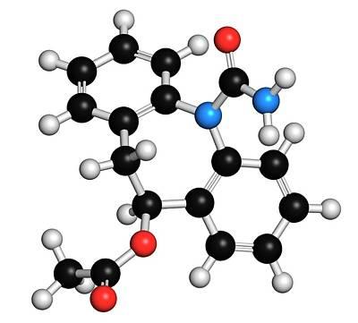 Chemical Photograph - Eslicarbazepine Acetate Epilepsy Drug by Molekuul