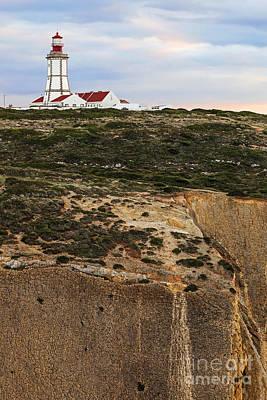 Lighthouse Sunset Photograph - Espichel Cape Lighthouse by Jose Elias - Sofia Pereira