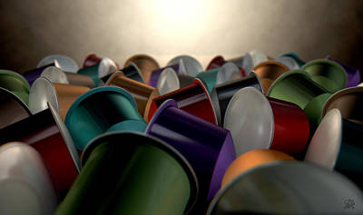 Color And Design Digital Art - Espresso Coffee Capsules by Allan Swart