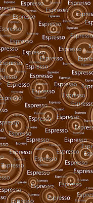Oversized Drawing - Espresso by Frank Tschakert