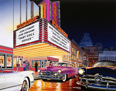 Night Out Photograph - Esquire Theater by Bruce Kaiser