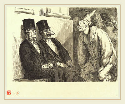 L. T Drawing - Etienne After Honoré Daumier French, Active 19th Century by Litz Collection