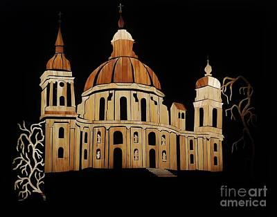 Monastery Mixed Media - Ettal Abbey by Straw Art