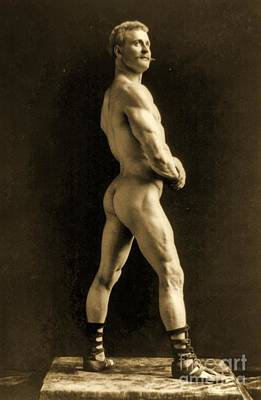 Homo Painting - Eugen Sandow by Napoleon Sarony