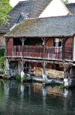 Eure River And Old Fulling Mills In Chartres Art Print by RicardMN Photography