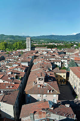 Lucca Photograph - Europe, Italy, Tuscany, Lucca Town by Rob Tilley