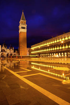 Europe Italy Venice San Marcos Square Art Print by Terry Eggers