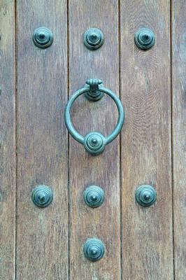 Door Knocker Photograph - Europe, Spain, Toledo, Door Knocker by Rob Tilley
