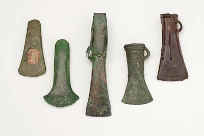 Artefact Photograph - European Axes by Paul D Stewart