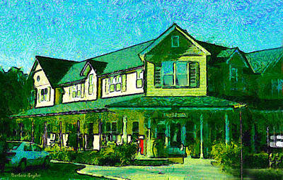 Central Coast Winery Digital Art - Evans Ranch Los Olivos California by Barbara Snyder