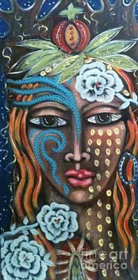 Fruit Tree Art Mixed Media - EVE by Maya Telford