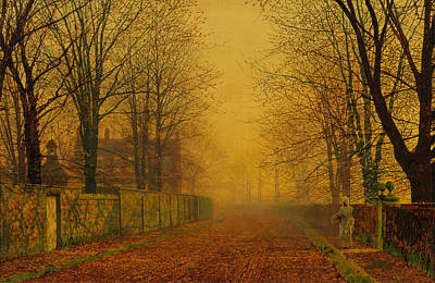 Evening Glow Painting - Evening Glow by John Atkinson Grimshaw