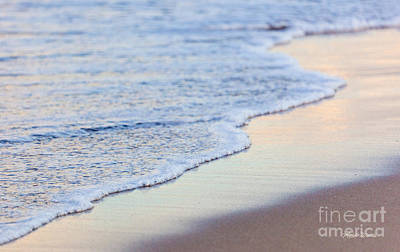Seafoam Abstract Photograph - Evening In Pastels by Michelle Wiarda