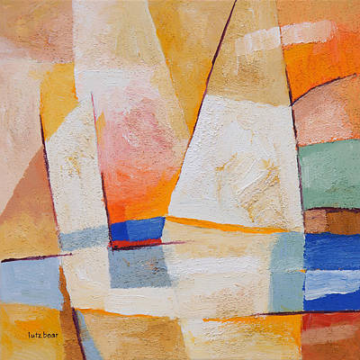 Abstract Seascape Painting - Evening Sails by Lutz Baar