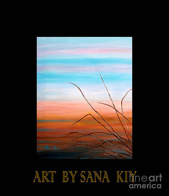 Painting - Evening Sky. Soul Collection by Oksana Semenchenko