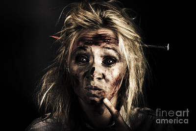 Photograph - Evil Dead Female Zombie With Monster Headache by Jorgo Photography - Wall Art Gallery