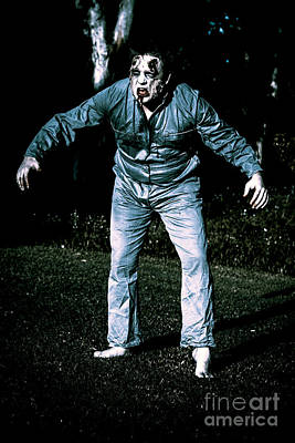 Photograph - Evil Dead Horror Zombie Walking Undead In Cemetery by Jorgo Photography - Wall Art Gallery