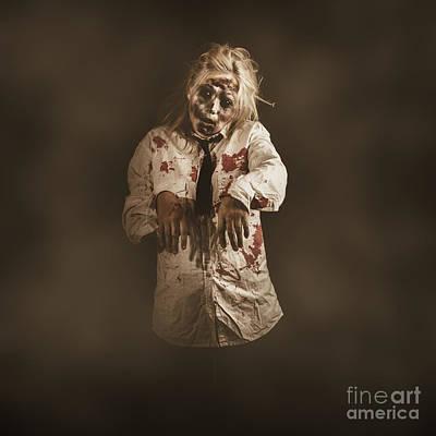 Evil Zombie Business Woman. Mindless Follower  Art Print by Jorgo Photography - Wall Art Gallery